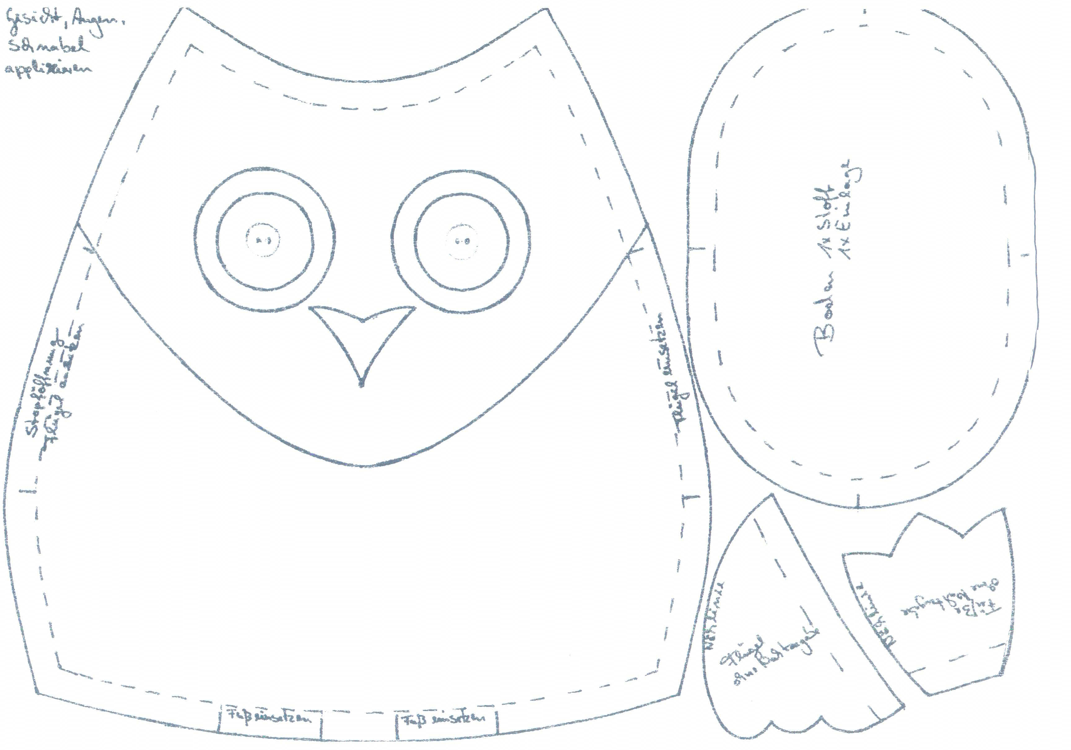 Mathilda-Dekoeulen zum Nachnähen | Nähen | Kreativ-Blog | Stoffe ...
