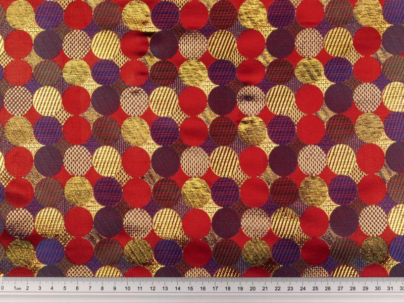brokat kreise rot 140cm jacquardstoffe karnevalsstoffe stoffe stoffe zanderino. Black Bedroom Furniture Sets. Home Design Ideas