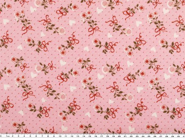 Rosen 142-145cm rosa Baumwoll-Popeline