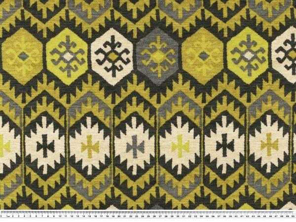 dekostoff atzteken muster gelbgr n wei 140cm stoffe g nstig stoffe zanderino. Black Bedroom Furniture Sets. Home Design Ideas