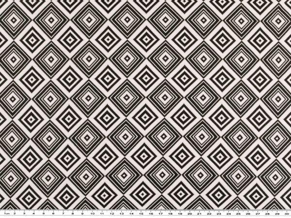 Modischer Jacquard, Grafik-Muster, Schwarz-weiß, 144cm