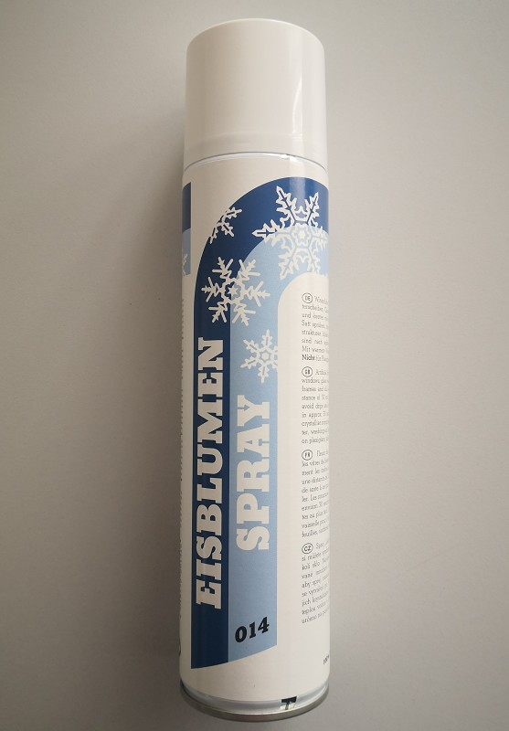eisblumen spray 400ml stoff deko spray zubeh r f r. Black Bedroom Furniture Sets. Home Design Ideas