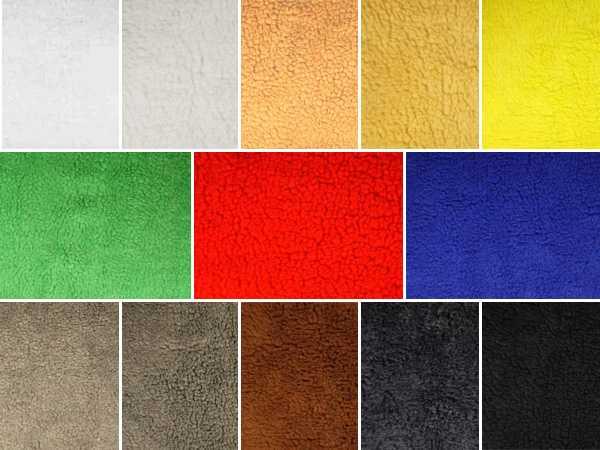 Teddy Locke, Lammfellimitat,verschiedene Farben, ca.145cm