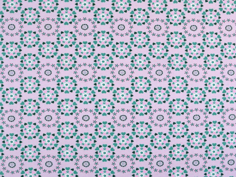 baumwoll jersey kleine herzen pastellflieder gr n 150cm weitere motive baumwollstoffe. Black Bedroom Furniture Sets. Home Design Ideas