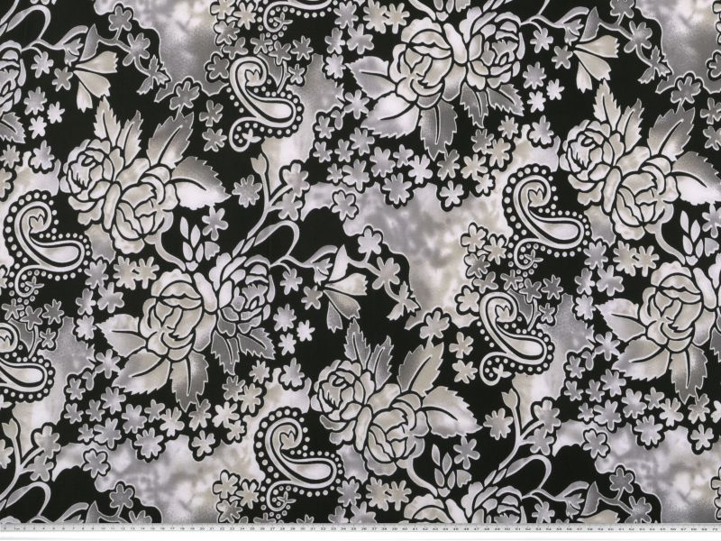 modischer polyester jersey blumen 150cm gemustert. Black Bedroom Furniture Sets. Home Design Ideas