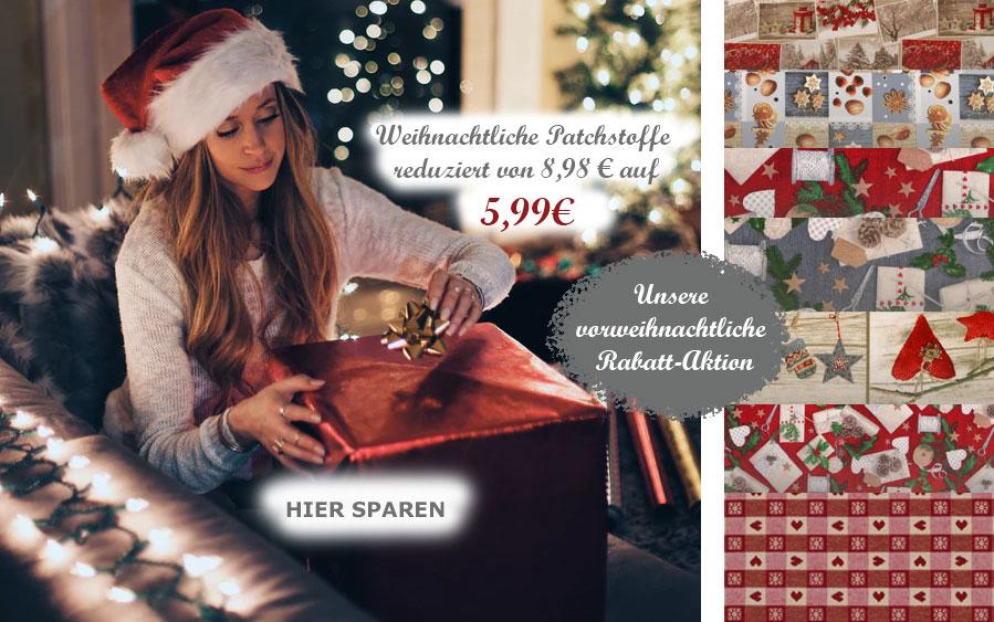 Weihnachtsstoffe zu attraktiven Preisen