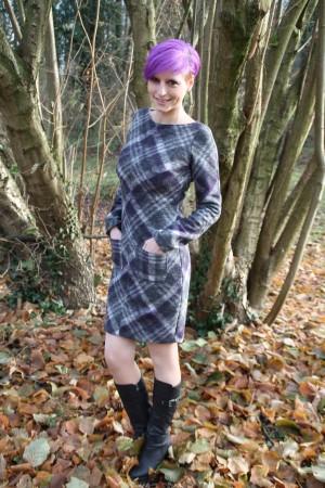 NÄHANLEITUNG - Winterkleid mit aufgesetzten Taschen   Nähen ...