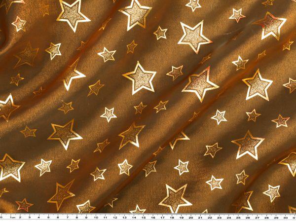 weihnachtsstoff organza sterne kupfer gold weihnachts organza weihnachten. Black Bedroom Furniture Sets. Home Design Ideas