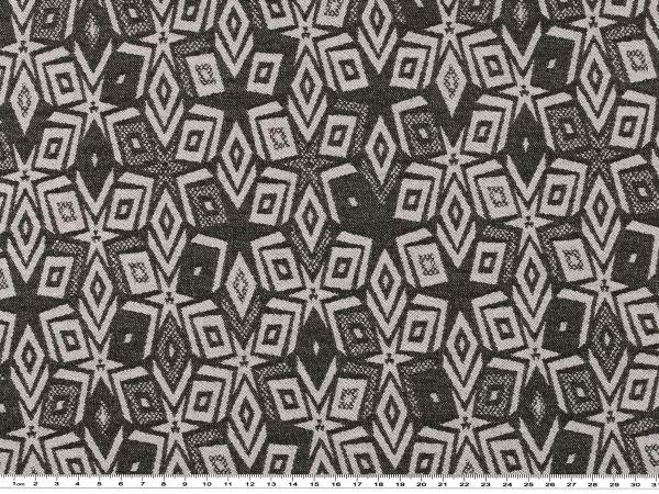 stretch jacquard geometrische muster schwarz wei 142cm. Black Bedroom Furniture Sets. Home Design Ideas