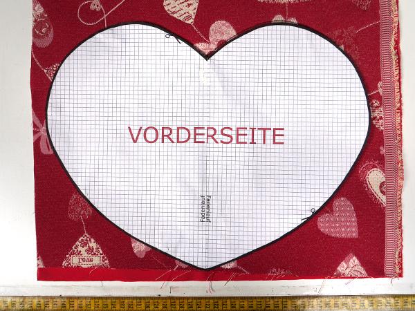 Anleitung Valentinstagsherz nähen | Stoffe-Zanderino