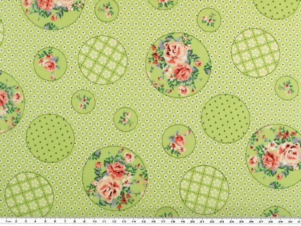 rosa 142-145cm Baumwoll-Druck Blumen