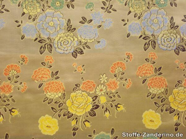 rest jacquard blumen 1b webfehler beige gold 200cm x 90cm stoffreste f r karneval. Black Bedroom Furniture Sets. Home Design Ideas
