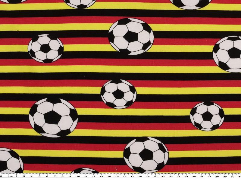 Stoff Baumwoll Jersey Fußball 180cm breit 180g