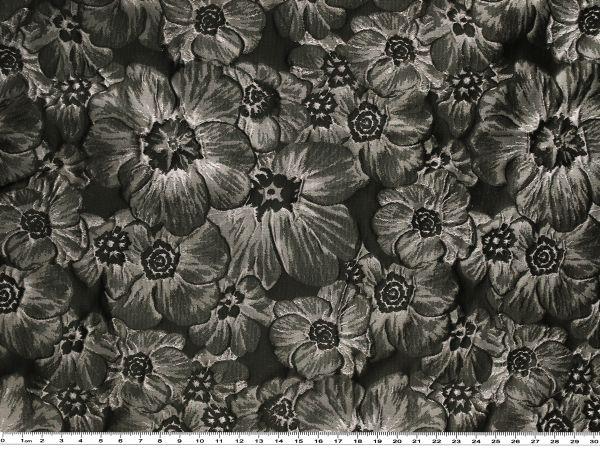 rosen jacquard grau schwarz 165cm jacquard stoff bekleidungsstoffe stoffe stoffe zanderino. Black Bedroom Furniture Sets. Home Design Ideas