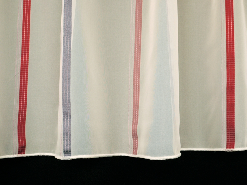toller stores gardinenstoff bleiband weiss rot 260cm hoch gardinenstoffe gardinenstoffe. Black Bedroom Furniture Sets. Home Design Ideas