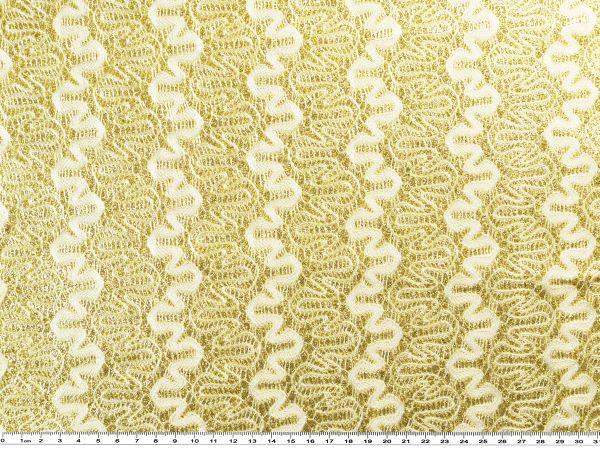 spitze mit lurex wei gold 145cm lam metall lurexstoffe bekleidungsstoffe stoffe. Black Bedroom Furniture Sets. Home Design Ideas