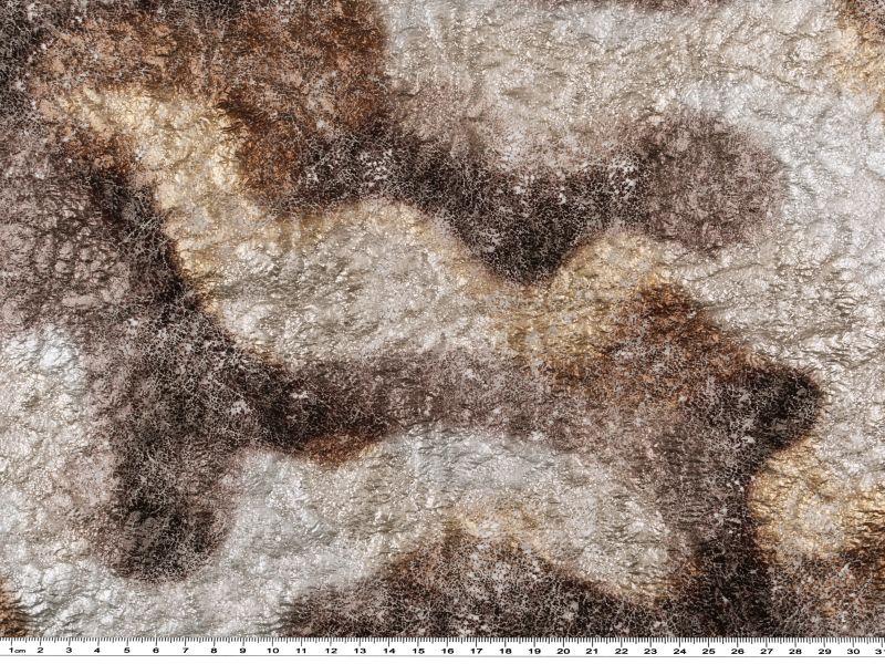 foliendruck bubbels auf gewirke braun silber 135cm strickware gewirke. Black Bedroom Furniture Sets. Home Design Ideas